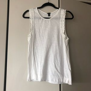 J Crew White Lace Tank Top Size Medium
